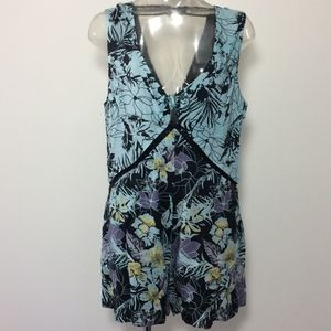 Free People printed romper xsmall A130